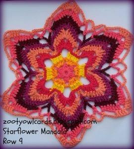 Yıldız Çiçeği Örgü Mandala Yapımı 12