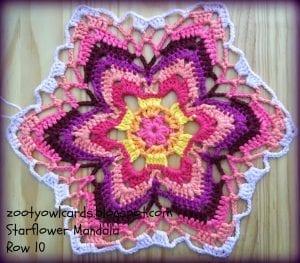 Yıldız Çiçeği Örgü Mandala Yapımı 14