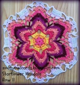 Yıldız Çiçeği Örgü Mandala Yapımı 17