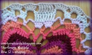 Yıldız Çiçeği Örgü Mandala Yapımı 18