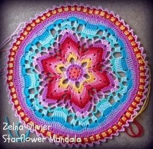 Yıldız Çiçeği Örgü Mandala Yapımı 1