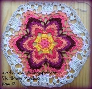 Yıldız Çiçeği Örgü Mandala Yapımı 19