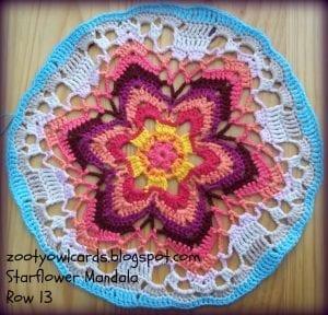 Yıldız Çiçeği Örgü Mandala Yapımı 20