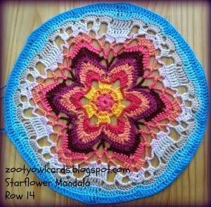 Yıldız Çiçeği Örgü Mandala Yapımı 21