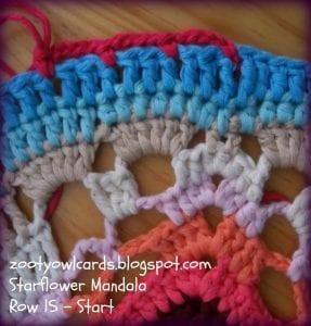 Yıldız Çiçeği Örgü Mandala Yapımı 22