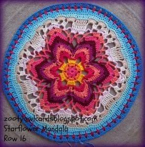 Yıldız Çiçeği Örgü Mandala Yapımı 24