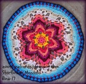 Yıldız Çiçeği Örgü Mandala Yapımı 26