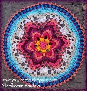 Yıldız Çiçeği Örgü Mandala Yapımı 28