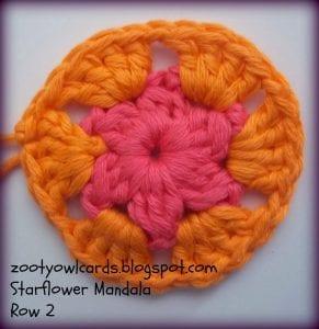 Yıldız Çiçeği Örgü Mandala Yapımı 30