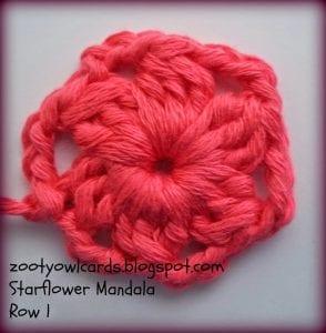 Yıldız Çiçeği Örgü Mandala Yapımı 3