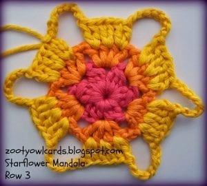 Yıldız Çiçeği Örgü Mandala Yapımı 4