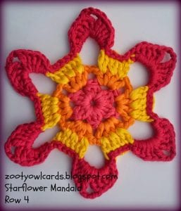 Yıldız Çiçeği Örgü Mandala Yapımı 5