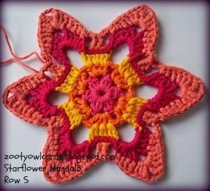 Yıldız Çiçeği Örgü Mandala Yapımı 6