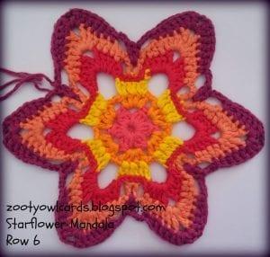 Yıldız Çiçeği Örgü Mandala Yapımı 7