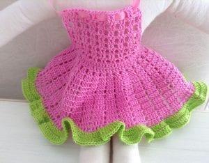 Amigurumi Bebek Elbisesi Yapılışı 6