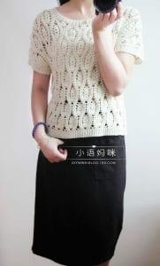 Başak Örgü Modeli Bluz Yapımı 4