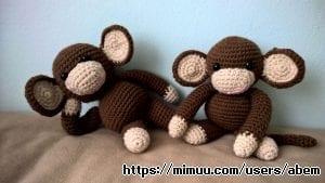 Kahve İkiz Maymunlar