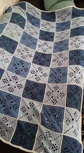 Kare Motifli Battaniye Modeli Yapımı 8