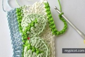 Kır Çiçekleri Örgü Modeli Battaniye Yapımı 12