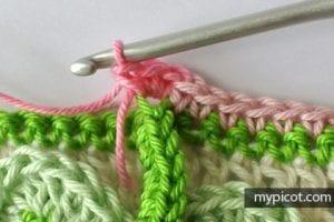 Kır Çiçekleri Örgü Modeli Battaniye Yapımı 16