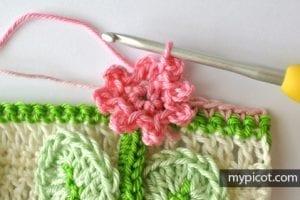 Kır Çiçekleri Örgü Modeli Battaniye Yapımı 18