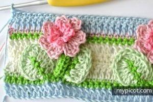 Kır Çiçekleri Örgü Modeli Battaniye Yapımı 22