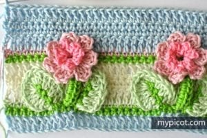Kır Çiçekleri Örgü Modeli Battaniye Yapımı 23