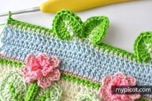 Kır Çiçekleri Örgü Modeli Battaniye Yapımı 24