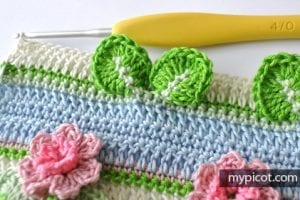 Kır Çiçekleri Örgü Modeli Battaniye Yapımı 25