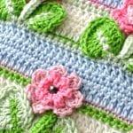 Kır Çiçekleri Örgü Modeli Battaniye Yapımı 27