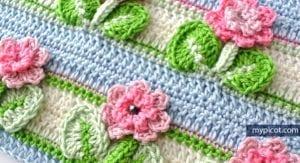 Kır Çiçekleri Örgü Modeli Battaniye Yapımı