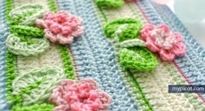 Kır Çiçekleri Örgü Modeli Battaniye Yapımı 28