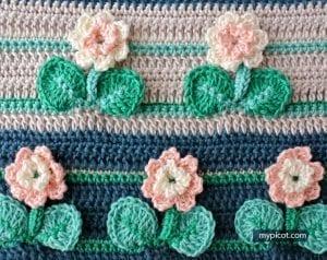 Kır Çiçekleri Örgü Modeli Battaniye Yapımı 29