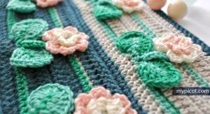 Kır Çiçekleri Örgü Modeli Battaniye Yapımı 31