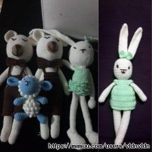 Amigurumi Tavşan ve Ayıcıklar