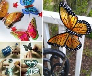 Videolu, Plastik Şişeden Kelebek Yapımı 8
