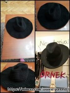 Tığ İşi Fötr Şapkanın Kenarlarını Uzatırsak