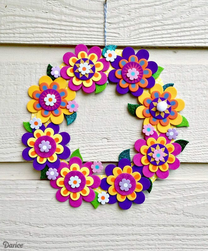 halloween wreath craft project