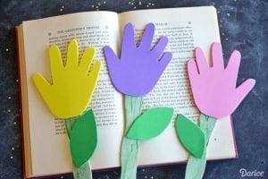 Okul Öncesi Evadan El İzi Çiçek Yapımı 4
