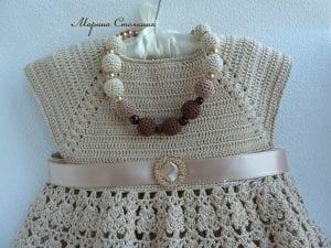 Tığ İşi Örgü Kız Çocuk Elbisesi Yapılışı 7