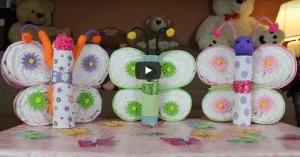 Videolu, Bebek Bezi Süsleme Kelebek Yapımı