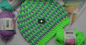 Videolu, Neon Renklerde Örgü Şapka Yapılışı