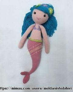 El Emeği Amigurumi Deniz Kızı