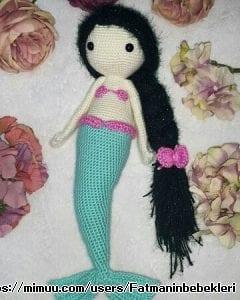 Büyük Deniz Kızı Amigurumi