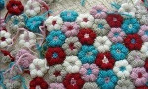Çiçek Motifli Battaniye Nasıl Yapılır?