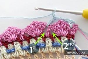 Çiçekli Deniz Kabuğu Örgü Modeli Yapılışı 12