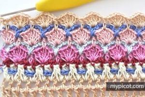 Çiçekli Deniz Kabuğu Örgü Modeli Yapılışı 17