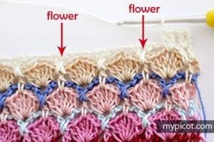 Çiçekli Deniz Kabuğu Örgü Modeli Yapılışı 19