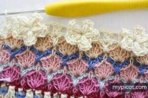Çiçekli Deniz Kabuğu Örgü Modeli Yapılışı 25