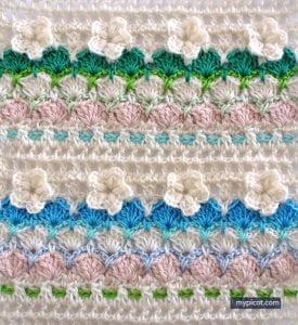 Çiçekli Deniz Kabuğu Örgü Modeli Yapılışı 33